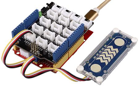 Exemple d'utilisation du module Grove touches et glissières sensitives 101020552