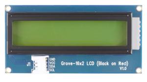Module Grove Afficheur LCD 2x16 (noir sur rouge)