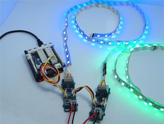 Exemple d'utilisation du module Drivers pour ruban leds 105020002