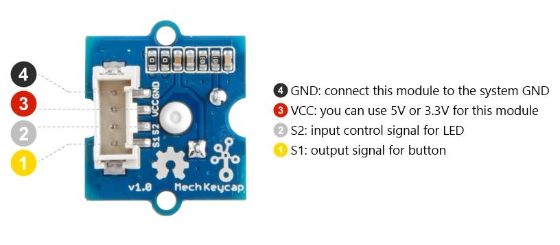 Module Grove touche mécanique à Led RVB 111020049