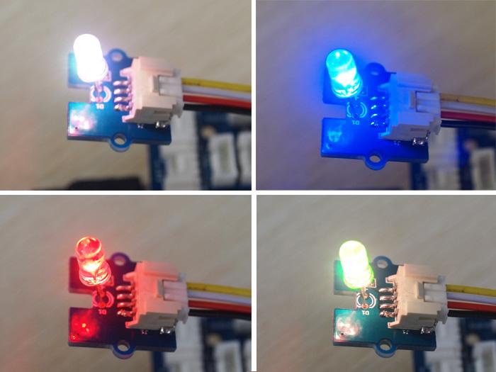 Détail du module Grove led clignotante multicolore 5 mm