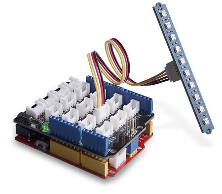 Example utilisation Grove Stick 10 Leds RVB WS2813 104020131