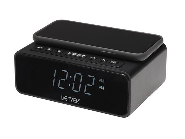 Radio réveil avec chargeur Qi intégré