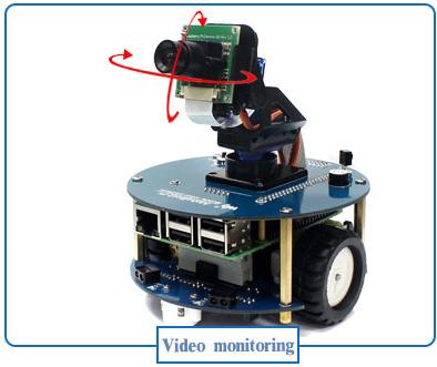 La base robotique Alphabot2-Pi équipée d'une caméra 5 MP - 1080 P