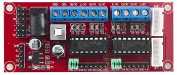 Détail du module drivers 4 moteurs CC pour Arduino